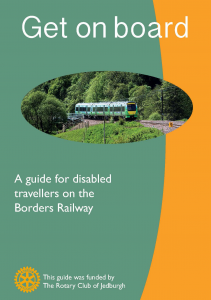 Front page of railway leaflet